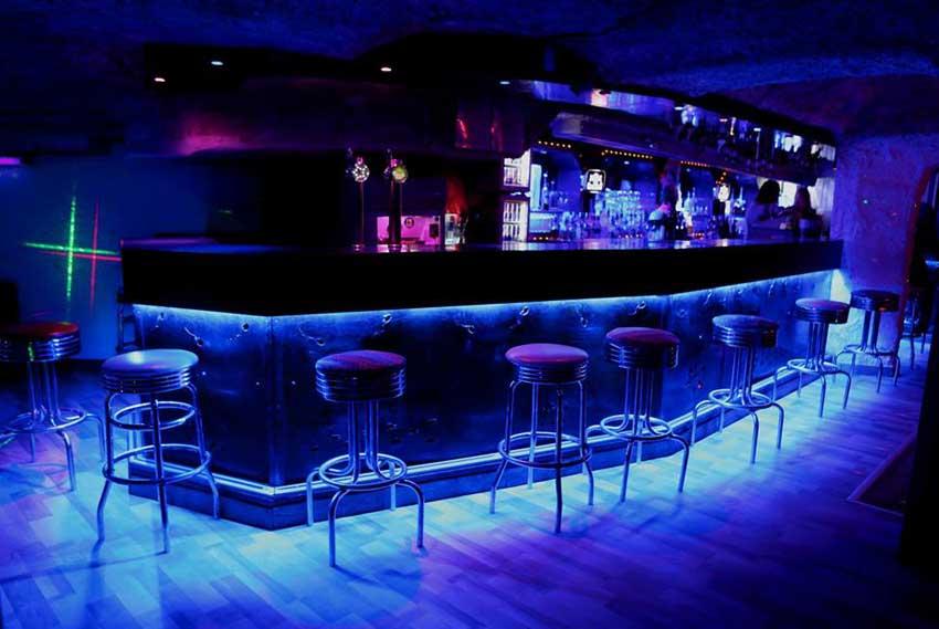 La discothèque 'Le Blue Girl' à Tignes Val Claret