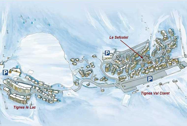 Plan d'accès au Sefcotel
