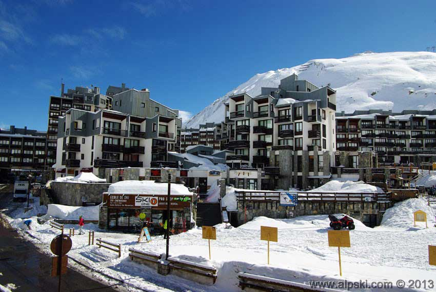 The South West facing side of the Sefcotel, Tignes Val Claret, winter 2013.